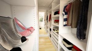 Begehbarer Kleiderschrank passend auf Maß
